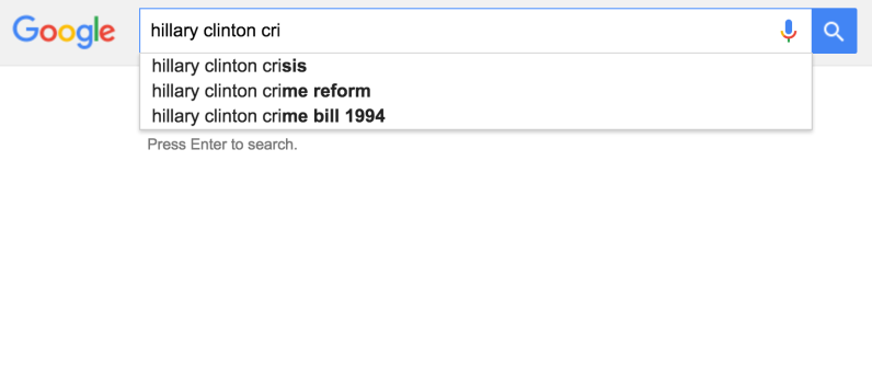 Did Google Manipulate Search for Hillary?