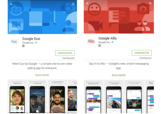 Google's Allo and Duo Apps